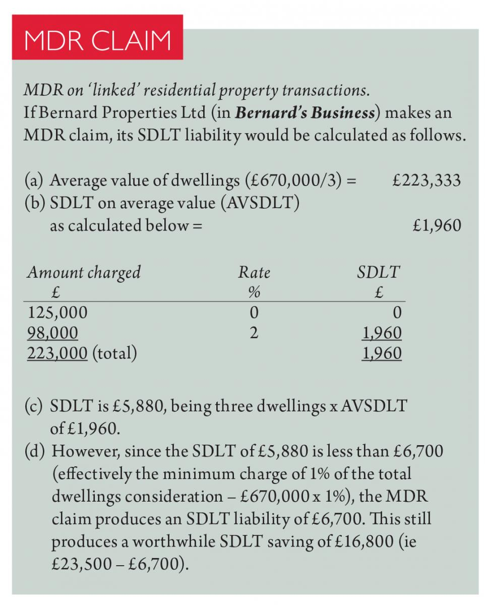 Multiple Dwellings Relief >> Little Boxes Taxation