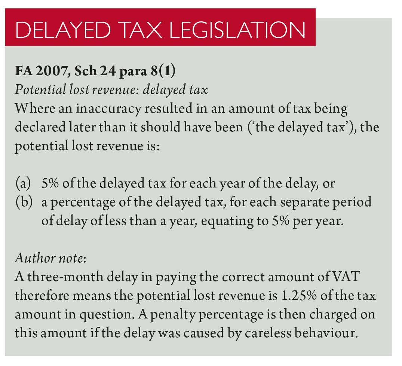 Delaying tactics | Taxation